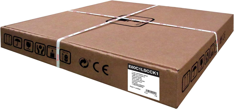 Tecatel E80C1LSCCK1-37 - Kit parabólica de 80 cm (Soporte, LNB Universal, Cable, Conectores, Grapas, Bridas y buscador), Color Blanco (E80C1LSCCK1)
