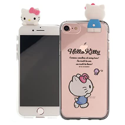 huge discount a9af9 96a06 iPhone SE/iPhone 5S / iPhone 5 Case Hello Kitty Cute Figure Doll Soft Jelly  Cover for [ iPhone SE / 5S / 5 ] Case - Figure Hello Kitty Waling