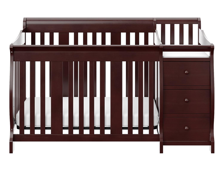 Crib for babies india - Amazon Com Stork Craft Portofino 4 In 1 Fixed Side Convertible Crib And Changer Espresso Baby