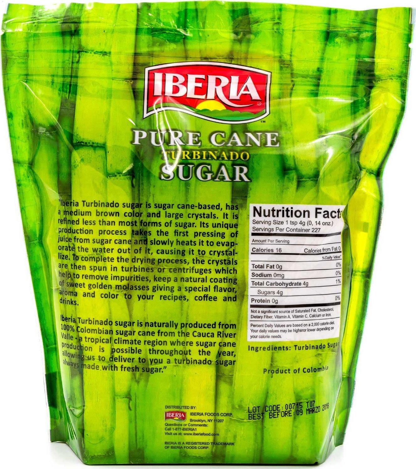 Amazon.com : Iberia Pure Cane Turbinado Raw Sugar 2lb : Grocery & Gourmet Food