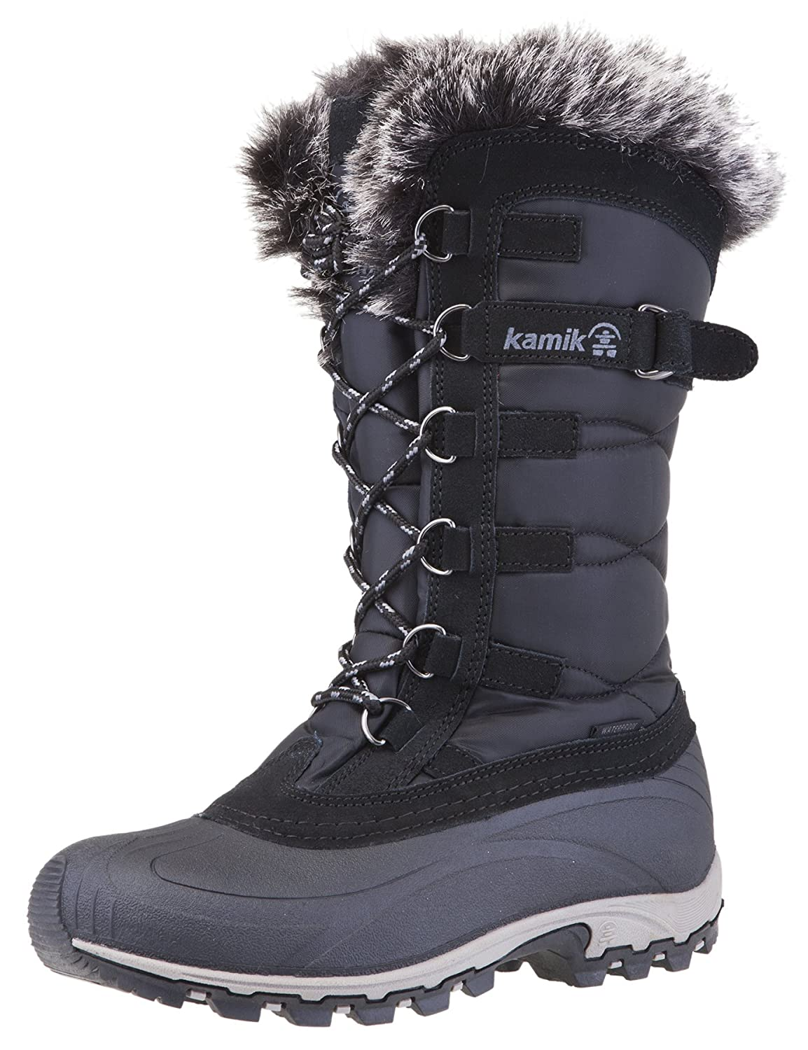 Black Grey Kamik Women's Snowvalley Boot