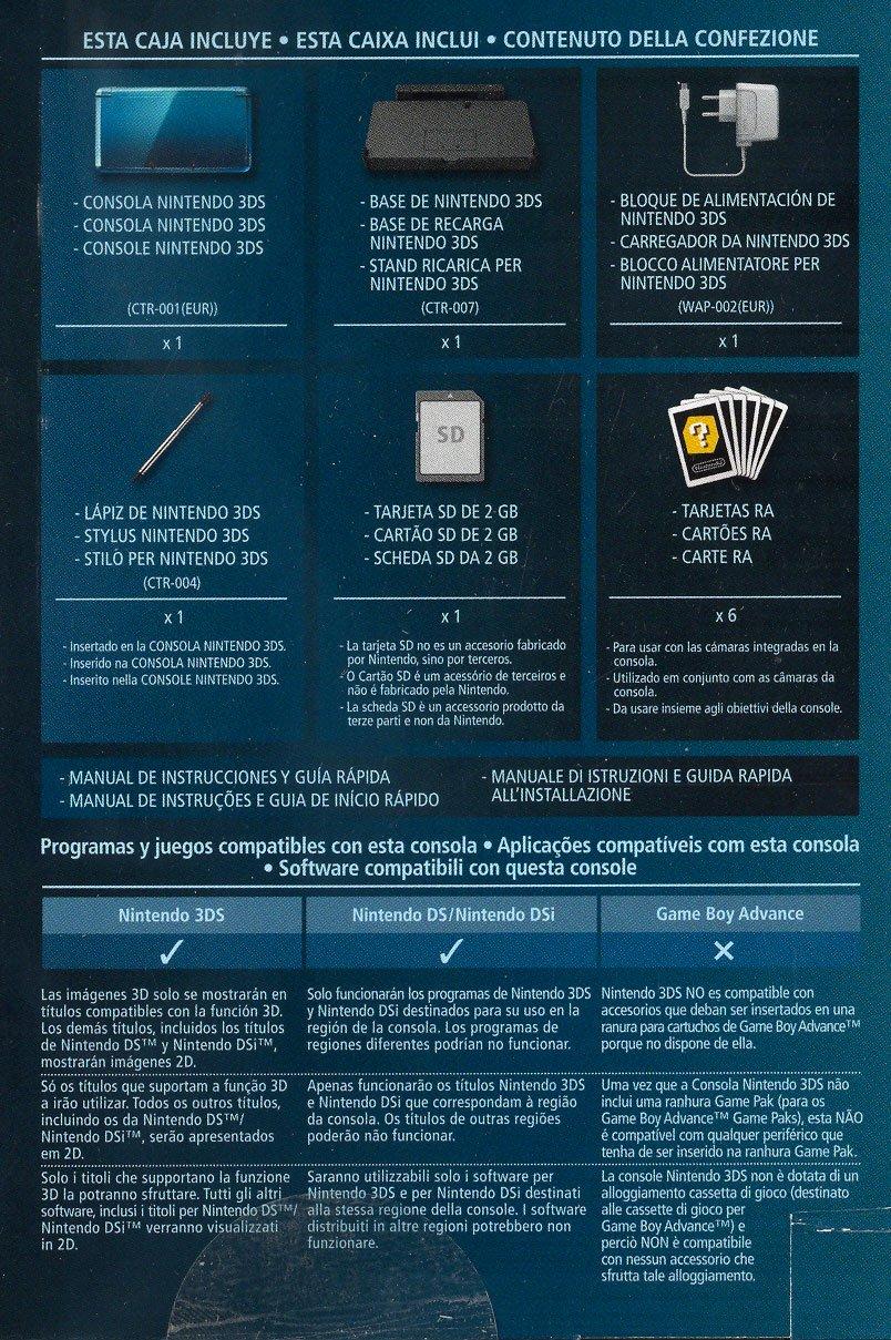 Nintendo 3DS - Console, Aqua Blue [Importación italiana ...
