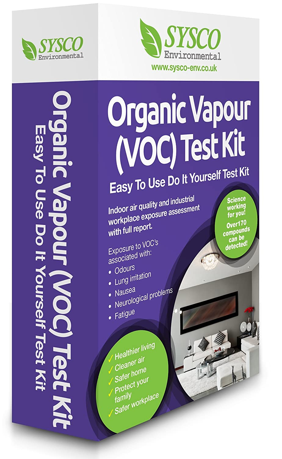 Organic vapour voc test kit for healthy living 1 amazon organic vapour voc test kit for healthy living 1 amazon business industry science solutioingenieria Images