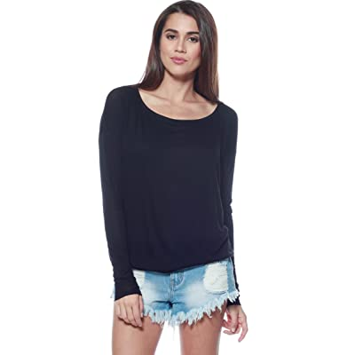 A+D Womens Thin Knit Dolman Sleeve Top W/Round Hem at Amazon Women's Clothing store