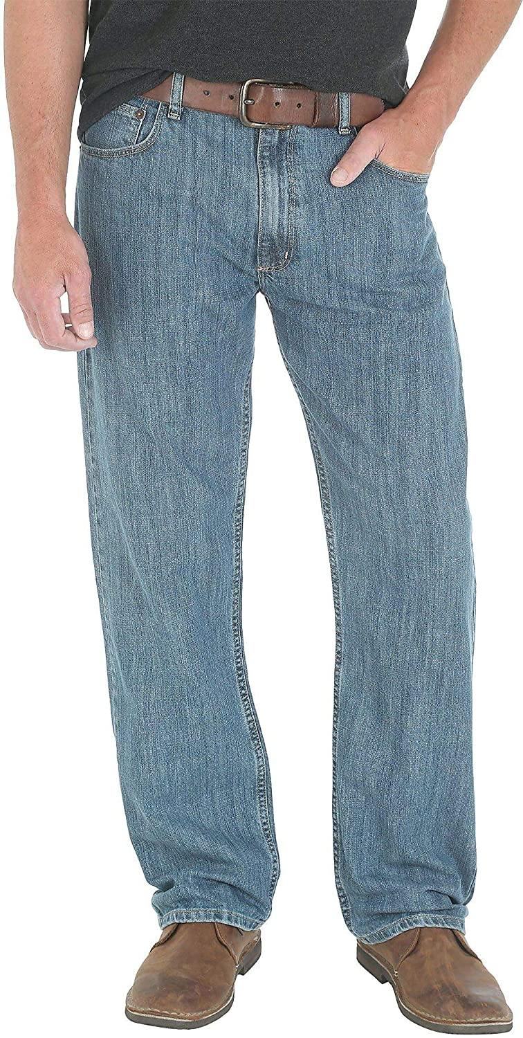 fc253e25 Wrangler Mens New Day Loose Fit Jeans at Amazon Men's Clothing store: