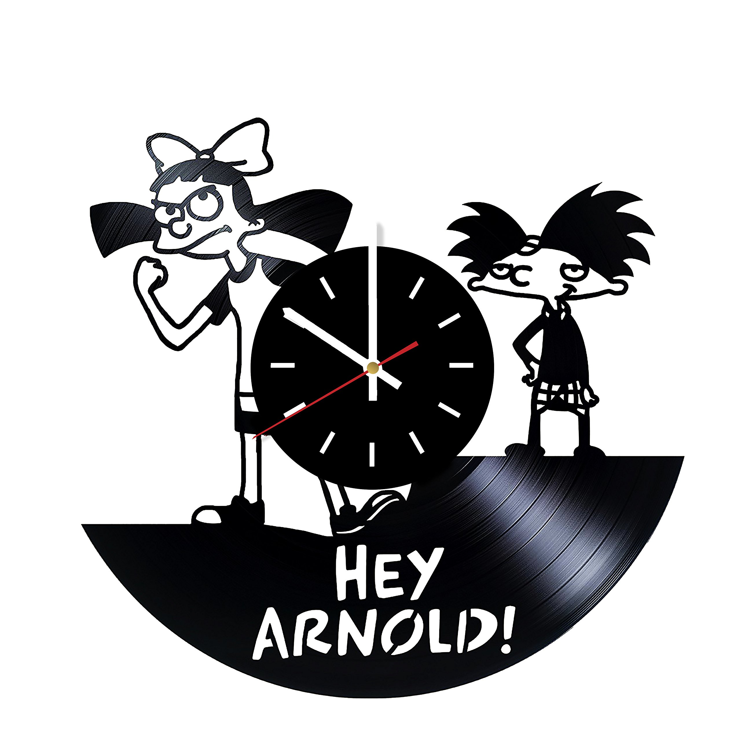 Everyday Arts Hey Arnold Nickelodeon Design Vinyl Record Wall Clock - Get Unique Bedroom or Garage Wall Decor - Gift Ideas for Friends, Brother - Darth Vader Unique Modern Art