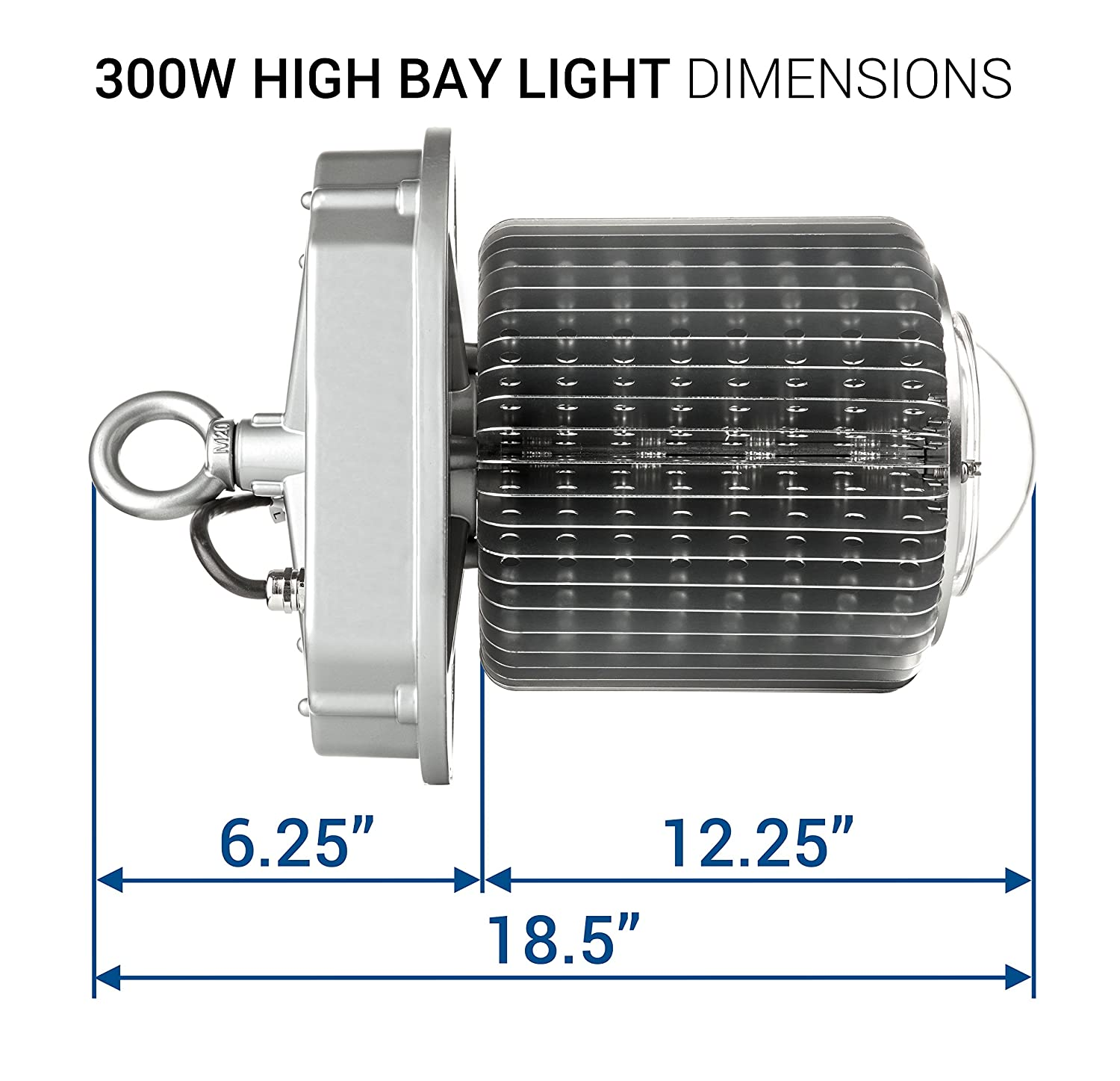 Hyperikon Led High Bay Light 300w 800w Hid Hps Equivalent 32 Wiring Diagram 700 Lumens 5000k Crystal White Glow Indoor Area Lighting Free Reflector Upon Request