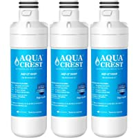AQUACREST LT1000P Refrigerator Water Filter, Compatible with LG LT1000P, LT1000PC, MDJ64844601, ADQ74793501, Kenmore 469980, 9980 (Pack of 3)