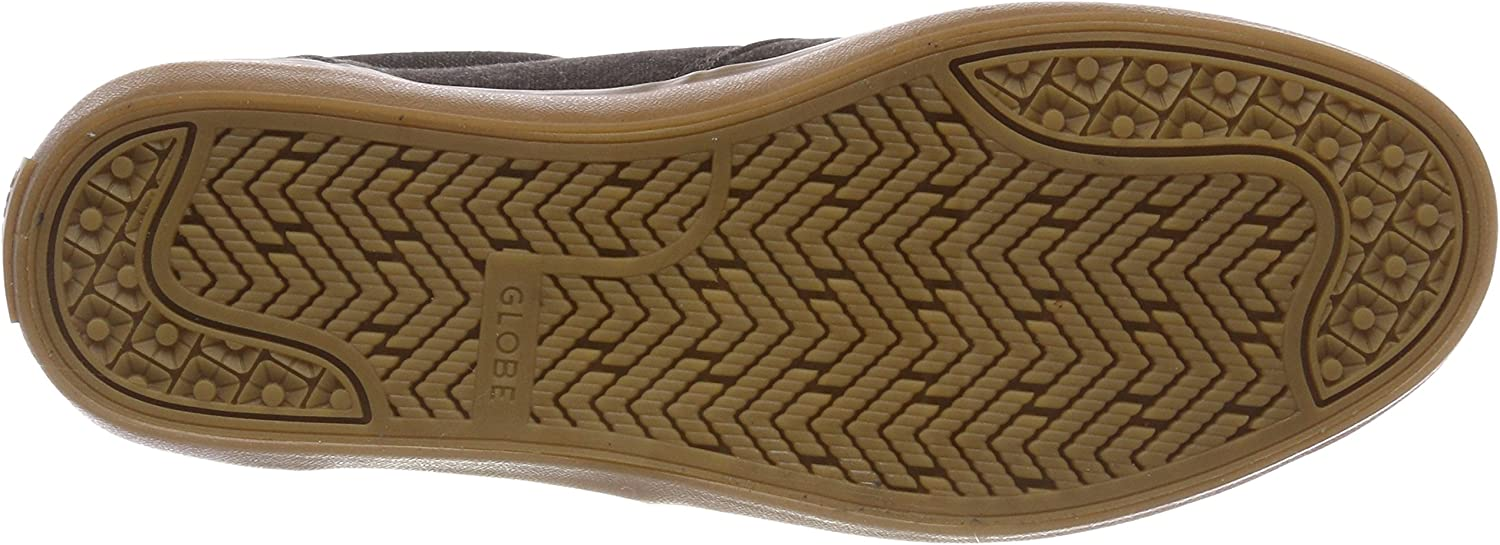 Globe Men's Willow Skateboarding Shoes Grey Earth Canvas Gum