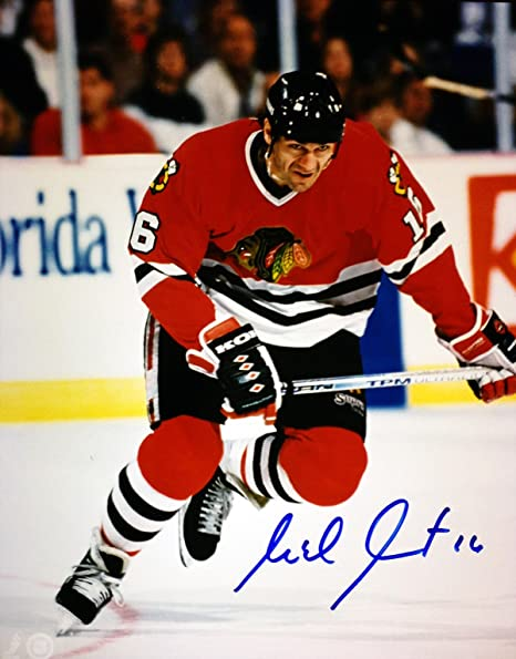 9f422ddd282 Michel Goulet Signed 8x10 Photograph - Chicago Blackhawks at ...