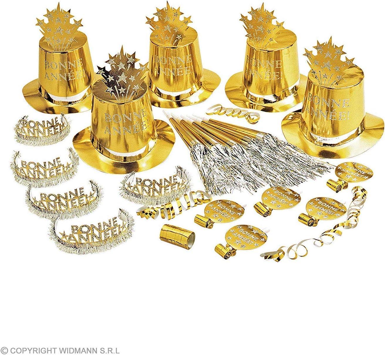 WIDMANN Kit de cotillón dorado