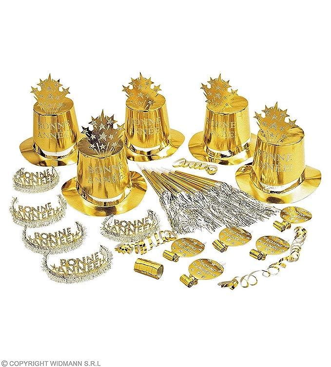 WIDMANN Kit de cotillón dorado: Amazon.es: Juguetes y juegos