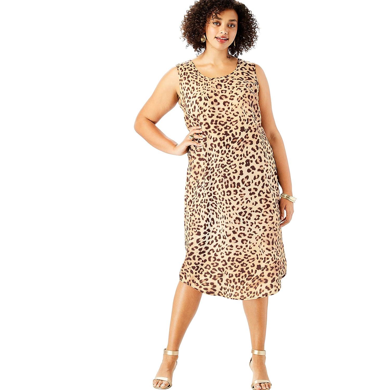 Roamans Women\'s Plus Size Three-Quarter Sleeve Jacket Dress ...