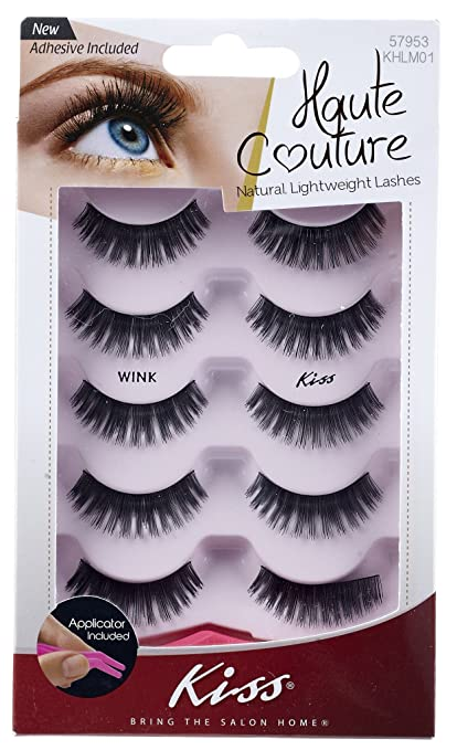 Amazon.com: Haute Couture Kiss Multi Pack Lashes, Wink: Beauty