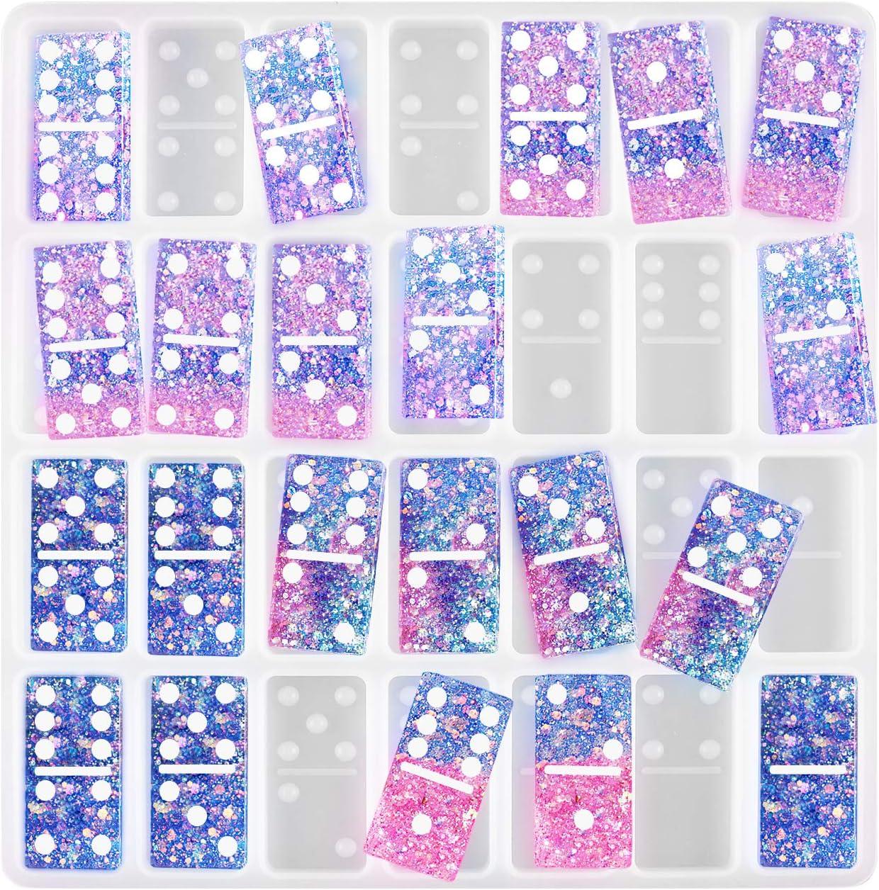 molde de silicona serina epoxi juego de domino 1 set