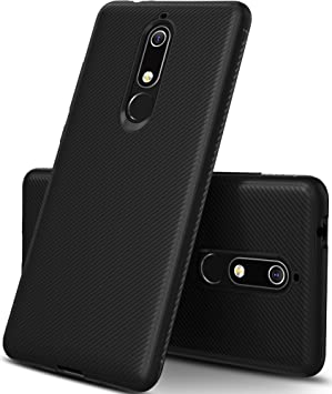 GeeMai Nokia 5 2018 móvil, [Negro Soft móvil] Ultra Thin Carcasa ...
