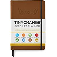 TINYCHANGE 2020 Planner Diary A5 Hardcover Daily; Weekly and Monthly Organizer Stationery Notebook Habit Tracker and Gratitude Journal with Productivity eBooks; Stickers; Thank You Cards; Bookmarks
