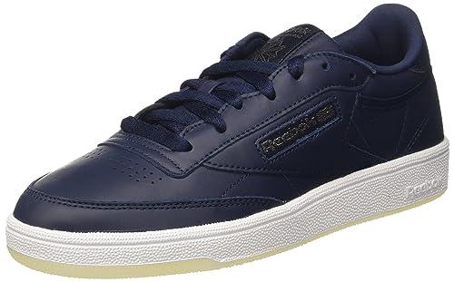 Reebok Club C 85 Lthr, Zapatillas de Gimnasia para Mujer, Azul (Pearl-Collegiate Navy//White/Ice), 40 EU