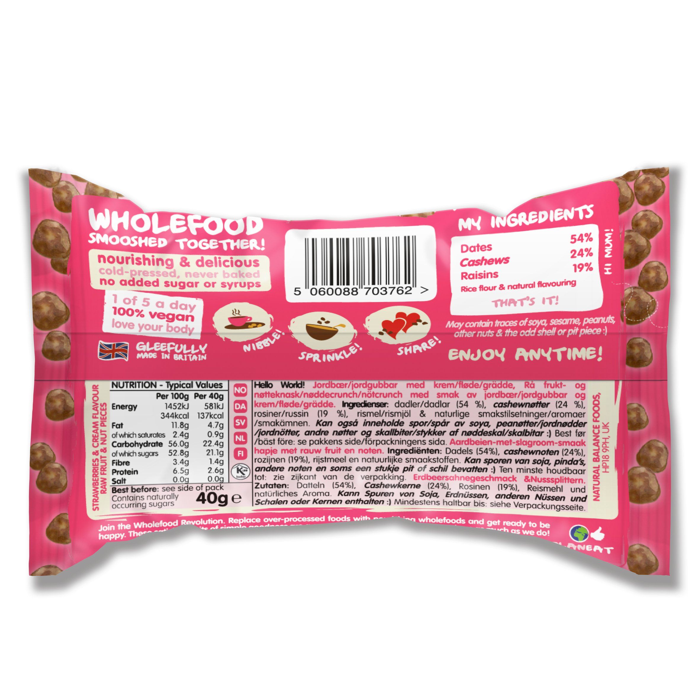 Nakd Nibbles & Bars Variety Pack, 8 Count by Nakd (Image #7)