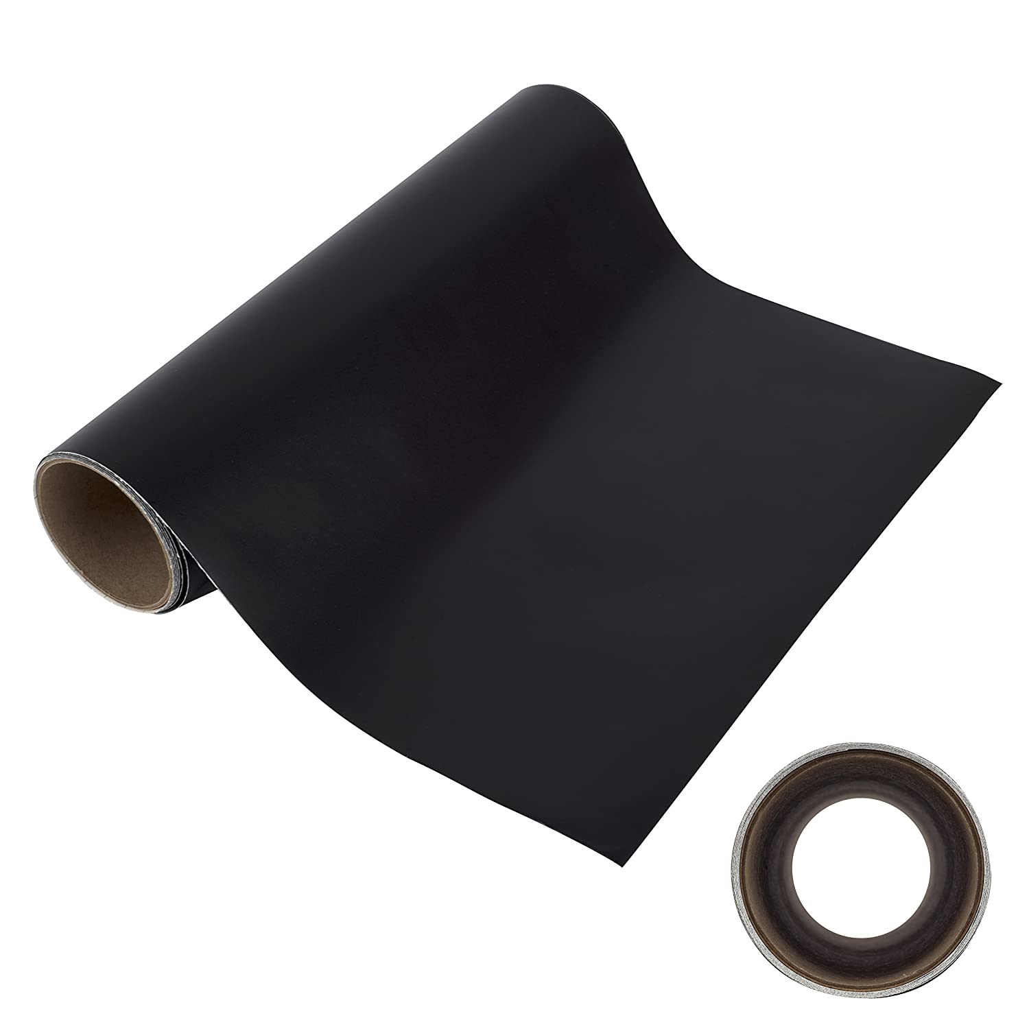 WEEDS EASILY BLACK MATTE ADHESIVE VINYL 30.5cm X 2.4m ROLL of Non-Stretchy, Made in USA for Cricut, Silhouette Cameo, Oracal Vinyl Cutters, Printers, Letters, Decals, Signs by Angel Crafts Angel Direct Products 12X6010-BLK