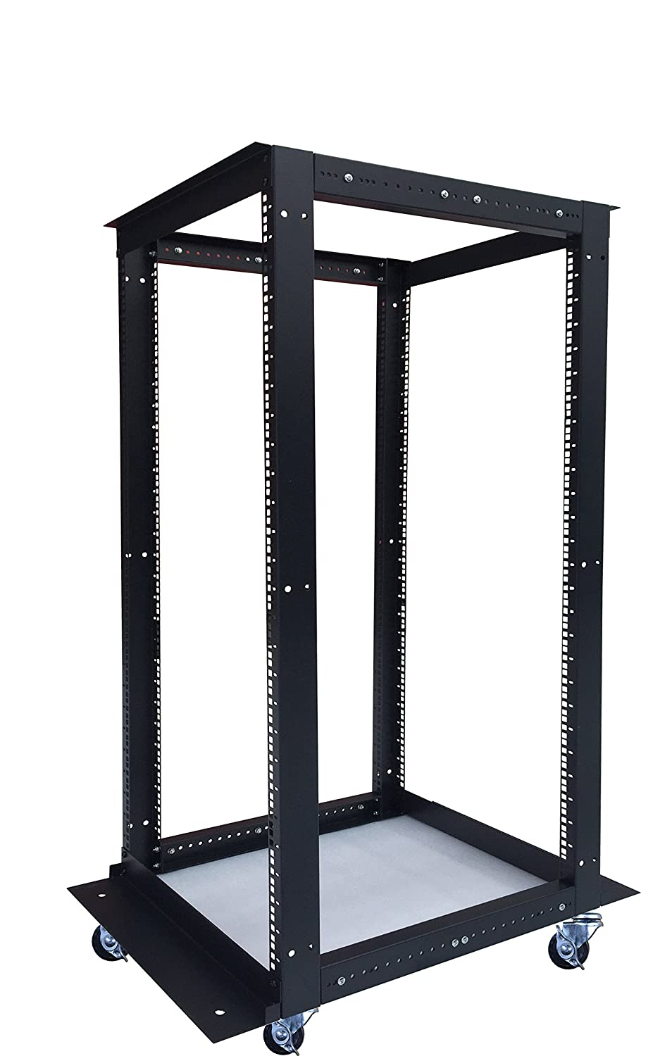 18U 4 Post Open Frame 19' Network Server Rack Cabinet Adjustable Depth 24'-37' Sysracks 18U DOR