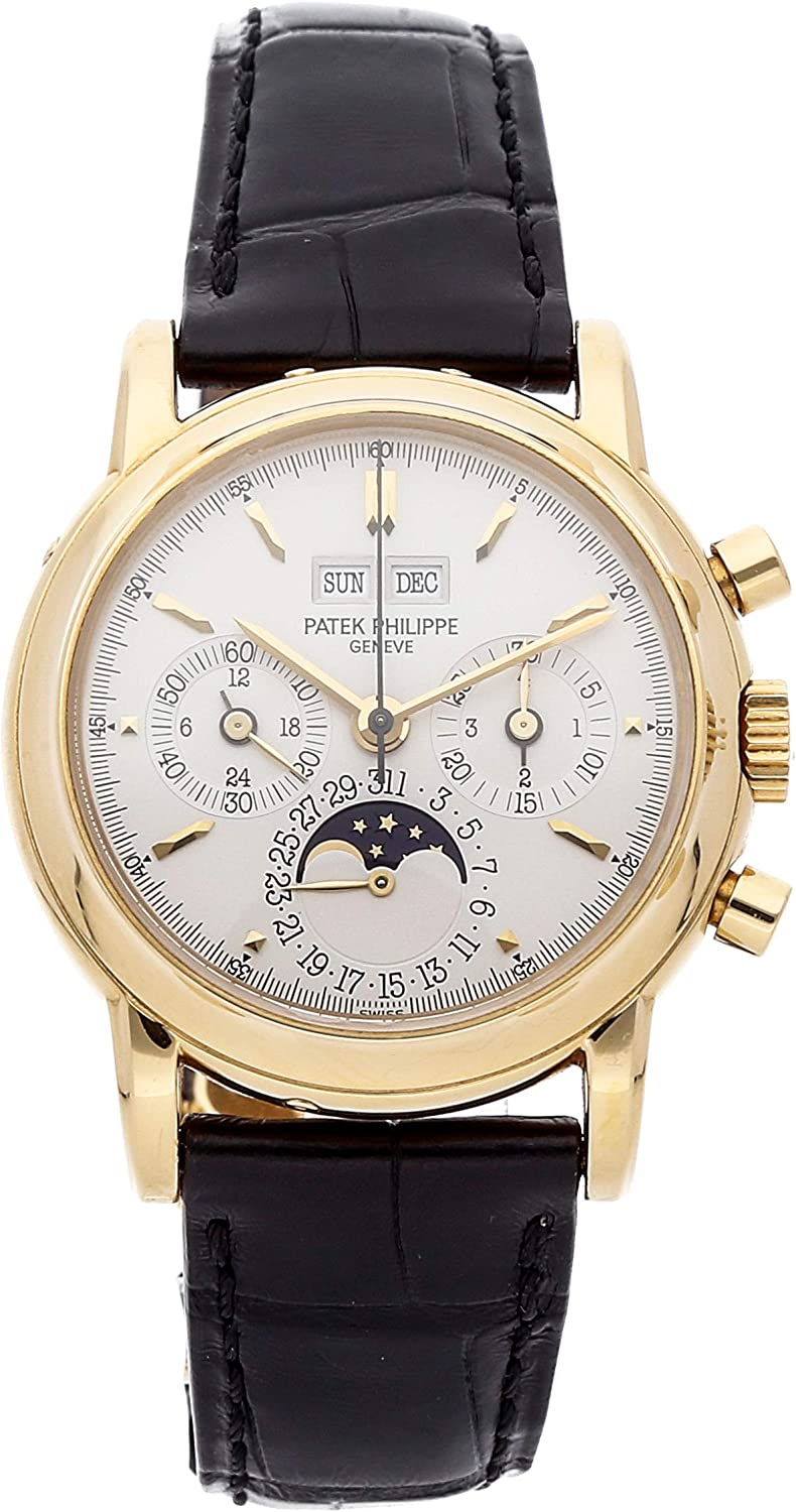 Patek Philippe Grand Complications Mechanical (Hand-Winding) Silver Dial Mens Watch 3970J (Certified Pre-Owned)