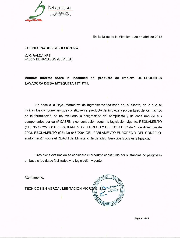 DEISA NATURAL DETERGENTE Natural Lavadora LIQUIDO MOSQUETA 3 ...