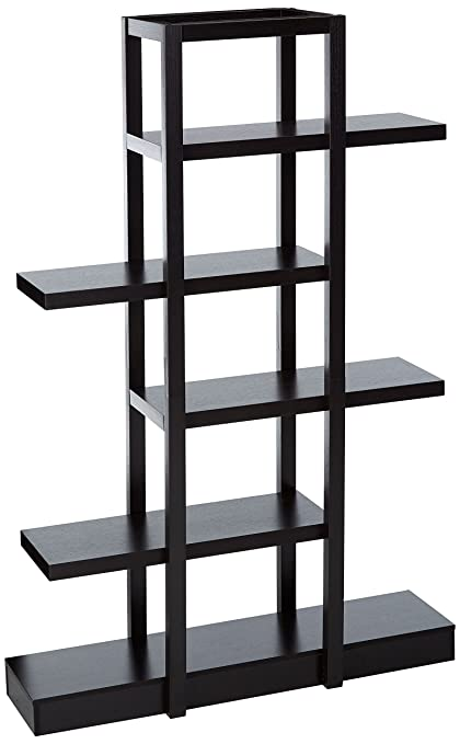 Monarch Specialties I 2541, Bookcase Open Concept, Display Etagere,  Cappuccino, 71u0026quot;
