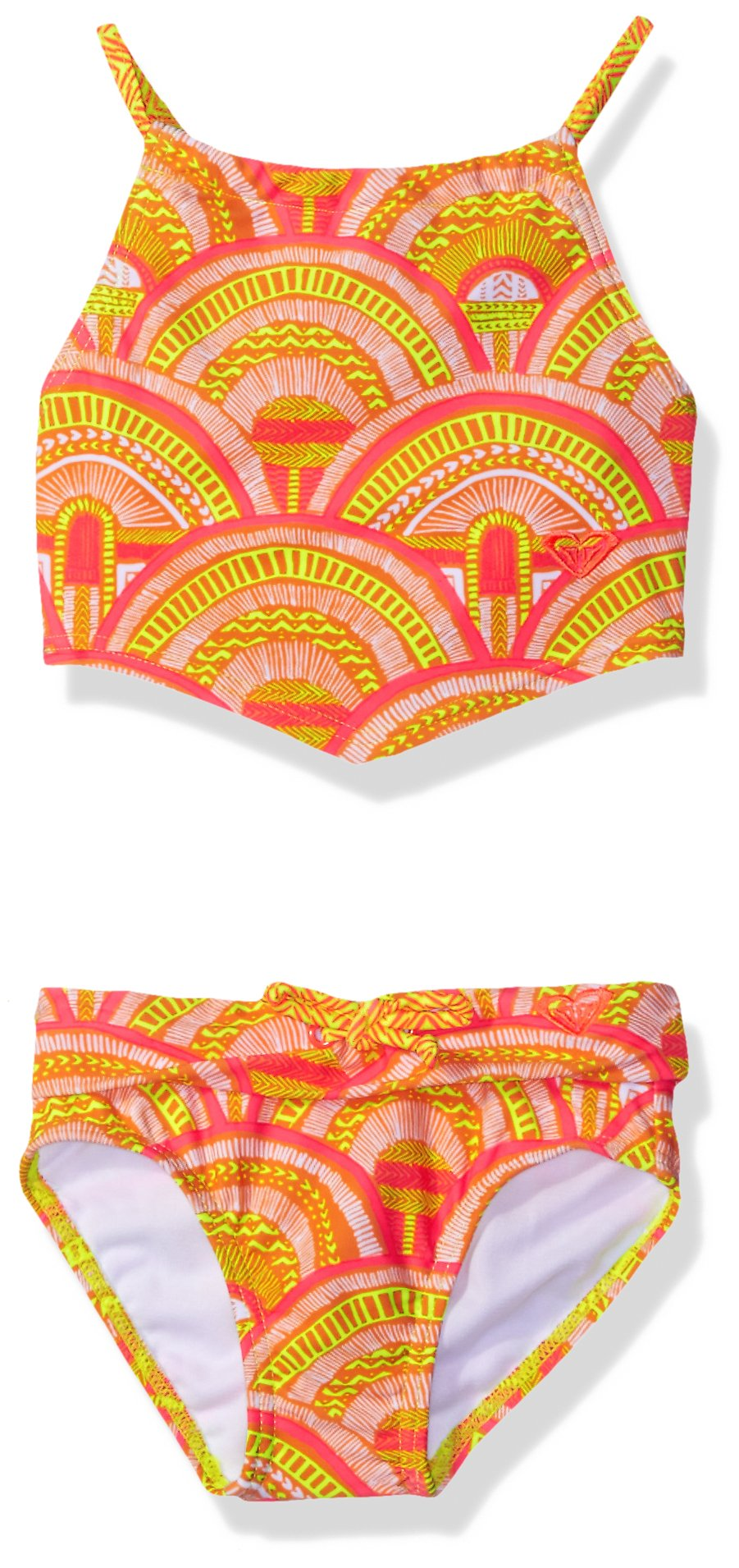 Roxy Little Girls' Sunrise Summer Bandana Set, Lemon Tonic, 5