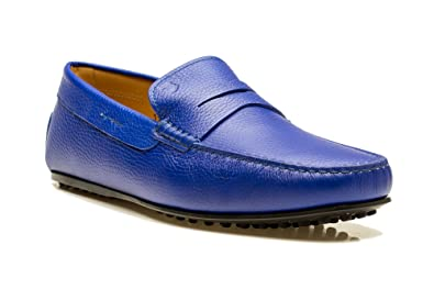0e3d4985dbe Image Unavailable. Image not available for. Color  Tod s Men s Leather  Moccasins City Gommino Loafer Shoes Blue