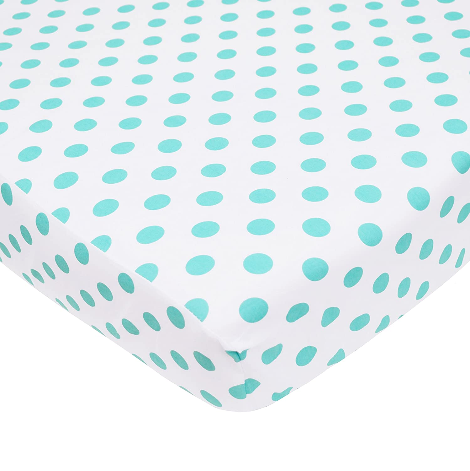 American Baby Company 100/% Natural Cotton Percale Fitted Crib Sheet for Standard Crib and Toddler Mattresses Soft Breathable for Boys and Girls Aqua Sea Waves