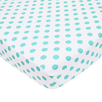 for Boys and Girls American Baby Company 100/% Natural Cotton Percale Fitted Crib Sheet for Standard Crib and Toddler Mattresses Red Soft Breathable