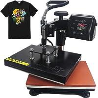 "Royalpress 9"" X 12"" Color LED Intelligent Sublimation Heat Transfer Swing Away 360-degree rotation T-shirt Heat Press Machine Black (9"" X 12"")"