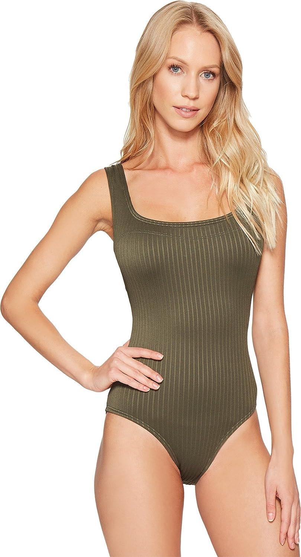 1d208985c487 Michael Michael Kors Women's Graphic Rib U-Neck One-Piece Ivy Swimsuit at  Amazon Women's Clothing store: