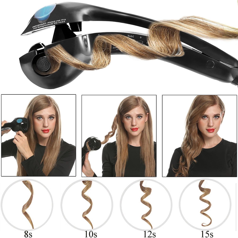 acevivi Vapor Anion rizador de cabello pelo rizador Destornillador con EU Conector LCD color blanco, Pro de c: Amazon.es: Belleza