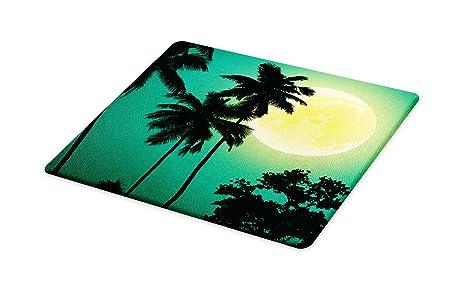 e072f3cf717b3 Amazon.com: Lunarable Palm Tree Cutting Board, Night with Coconut ...