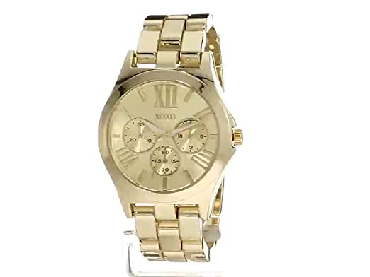 Amazon.com: XOXO Womens Quartz Metal and Alloy Watch, Color:Gold-Toned (Model: XO5864): Watches