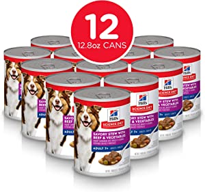 Hill's Science Diet Canned Wet Dog Food, Adult 7+ for Senior Dogs