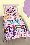 My Little Pony Party Rotary Print Duvet Set, Polycotton, Multi-Colour, Single