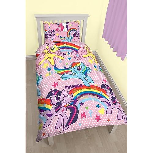 My Little Pony Party Rotary Print Duvet Set, Polycotton, Multi Colour,  Single