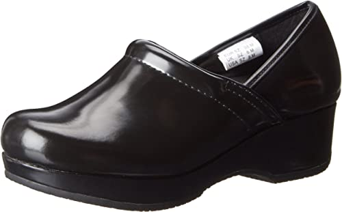 Cherokee Brown and Black Leather Patricia Slip resistant Clog