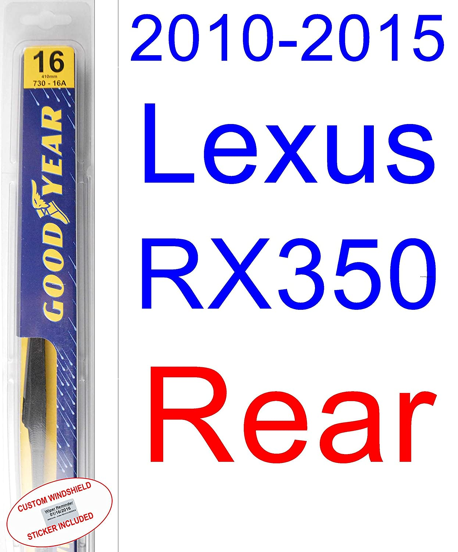 2012 lexus rx 350 windshield wipers size