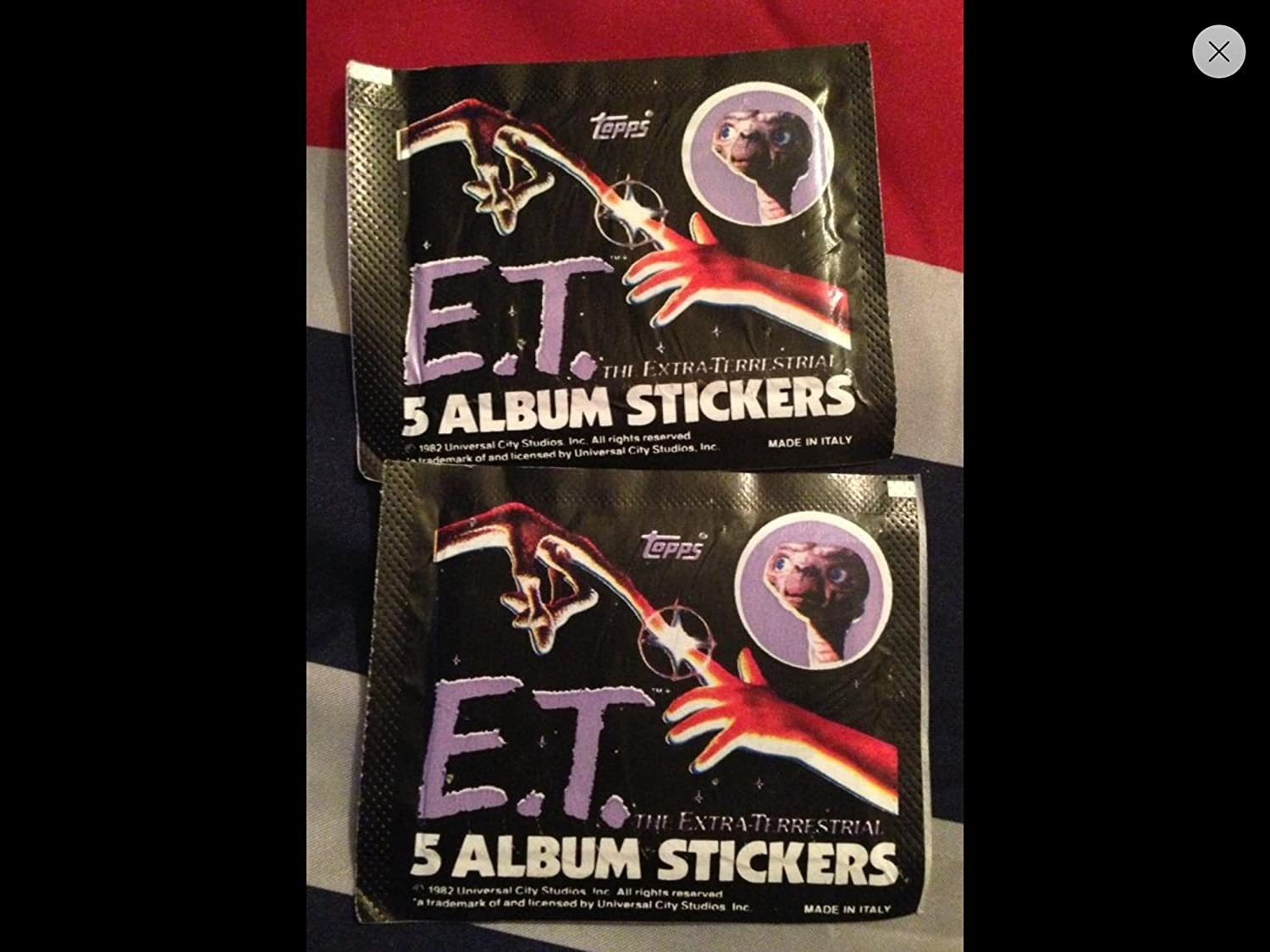 1982 Topps  E.T. 1 Extra-Terrestrial Album Stickers Unopened Pack