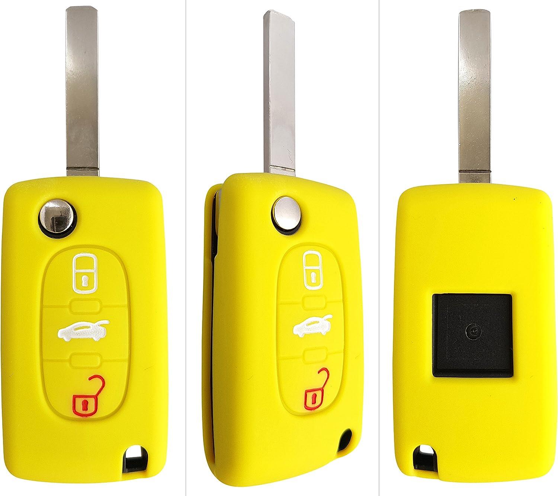 Ck Citroen Auto Schlüssel Hülle Key Cover Case Etui Silikon Für C1 C2 C3 C4 Grand