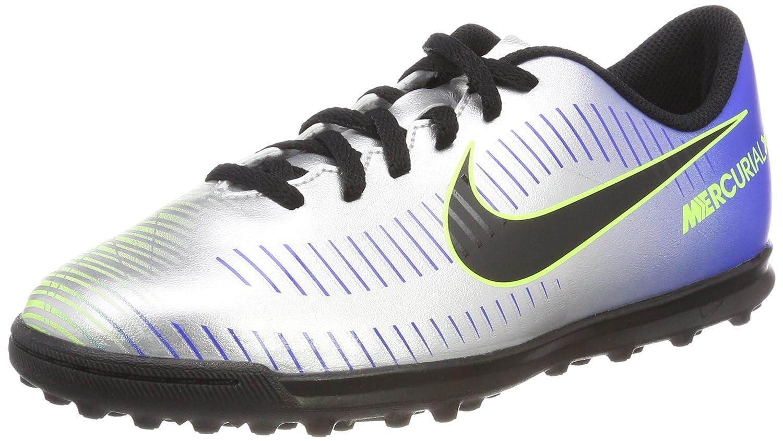 Nike Jr Mercurialx Vrtx III NJR TF, Zapatillas de Deporte Unisex Niños 28 EU|Multicolor (Racer Blue/Black/Chr 407)