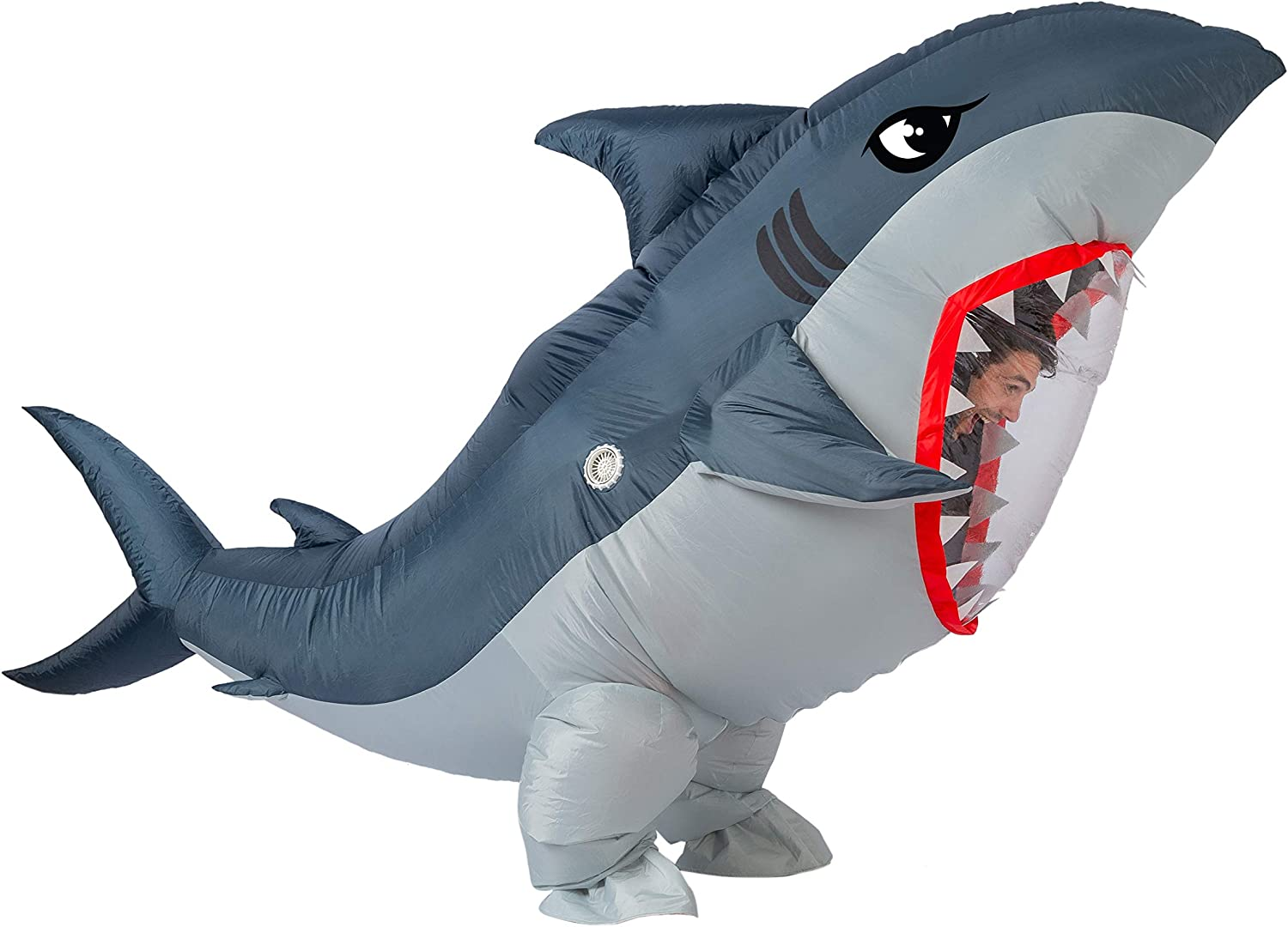 Adult Size Spooktacular Creations Inflatable Costume Full Body Shark Air Blow-up Deluxe Halloween Costume