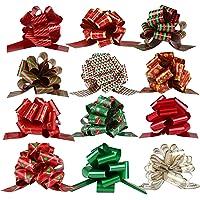 Naler 12 Lazos Regalo Navidad Lazos de Cinta