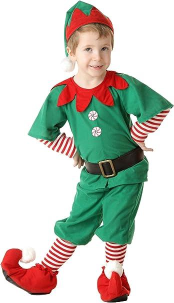 Amazon.com: Disfraz infantil de elfo de Navidad, disfraz de ...