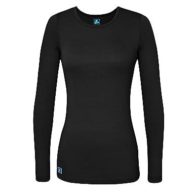 Amazon.com: Adar Womens Comfort Long Sleeve T-Shirt Underscrub Tee ...