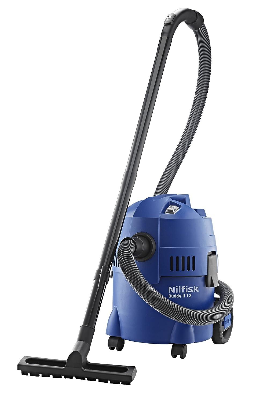 NILFISK Buddy II 12 Aspirador de agua, con o sin bolsa, 1200 W, 12 litros, 74 Decibelios, Azul
